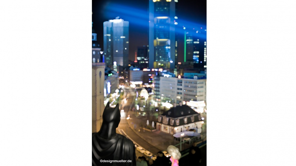 "Das ""Illuminale"" Frankfurt als Gotham Kulisse"